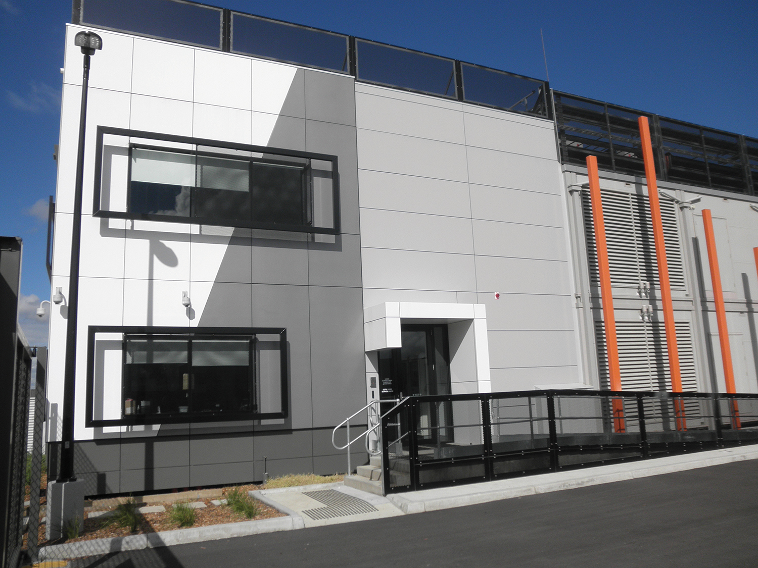 The exterior of the Metronode facility.