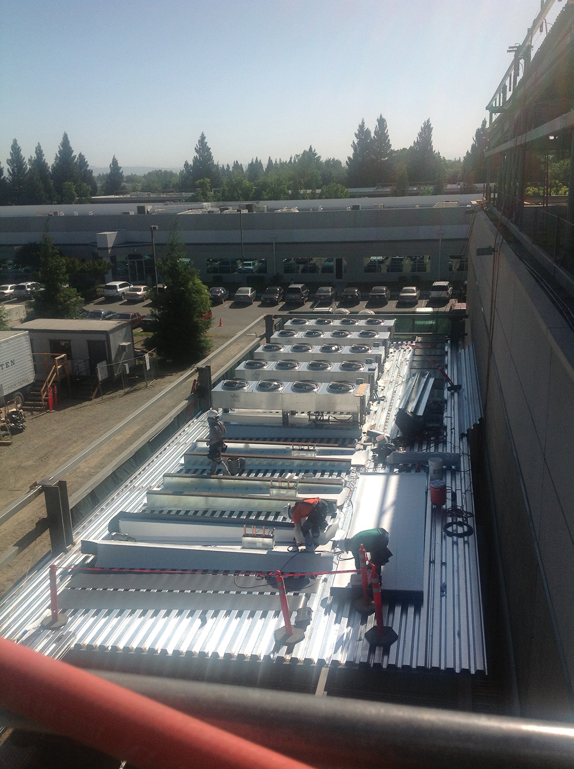 Figure 1. Roof deck of the first floor economizer