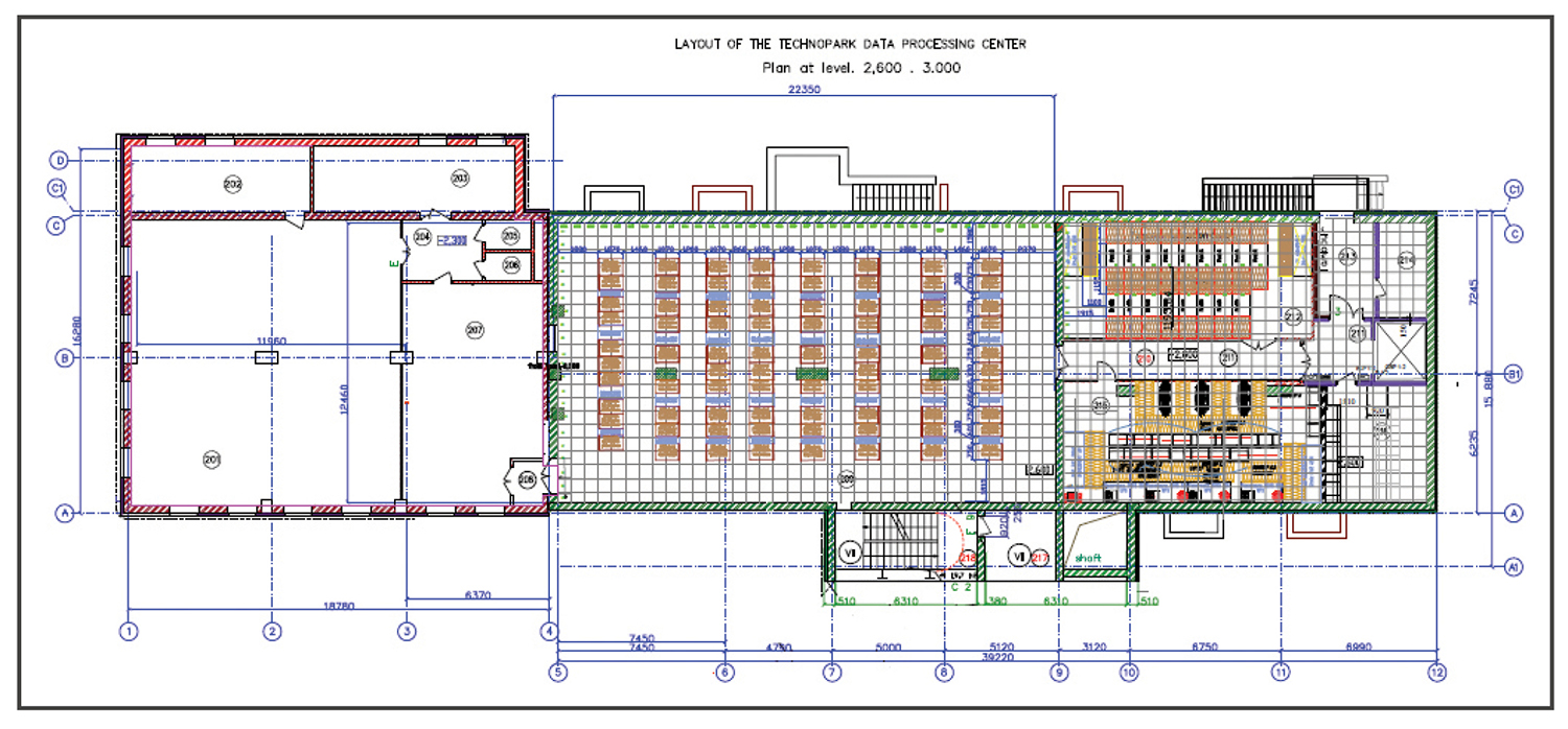 Russia 39 s first tier iv certification of design documents for Data center floor plan