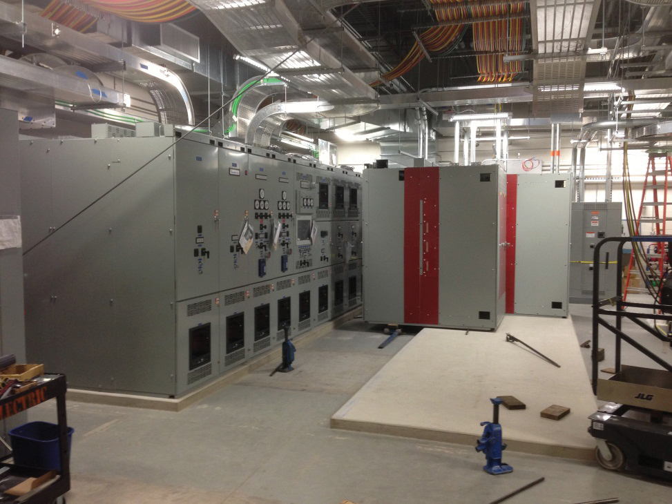Figure 12 and 13. New switchgear was installed