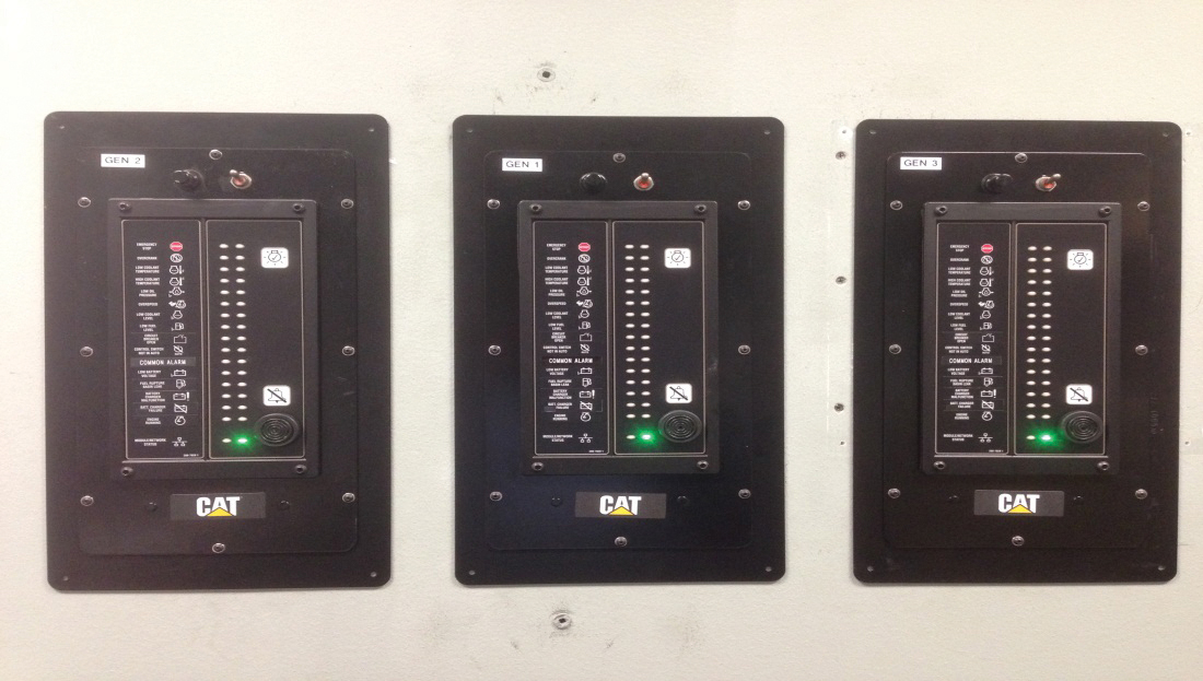 Figure 15 and 16. Upgraded engine-generator controls and alarming were installed, with panels installed in the Engineers Office