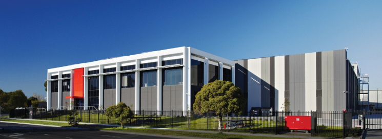 Figure 3. Exterior of NEXTDC's 12-MW M1 Melbourne data center, which is Uptime Institute Tier III Design Documents Certified