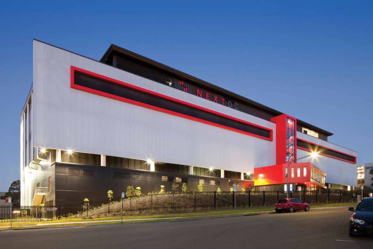 Figure 1. Exterior of NEXTDC's 11.5-MW S1 Sydney data center, which is Uptime Institute Tier III Design Documents and Constructed Facility Certified