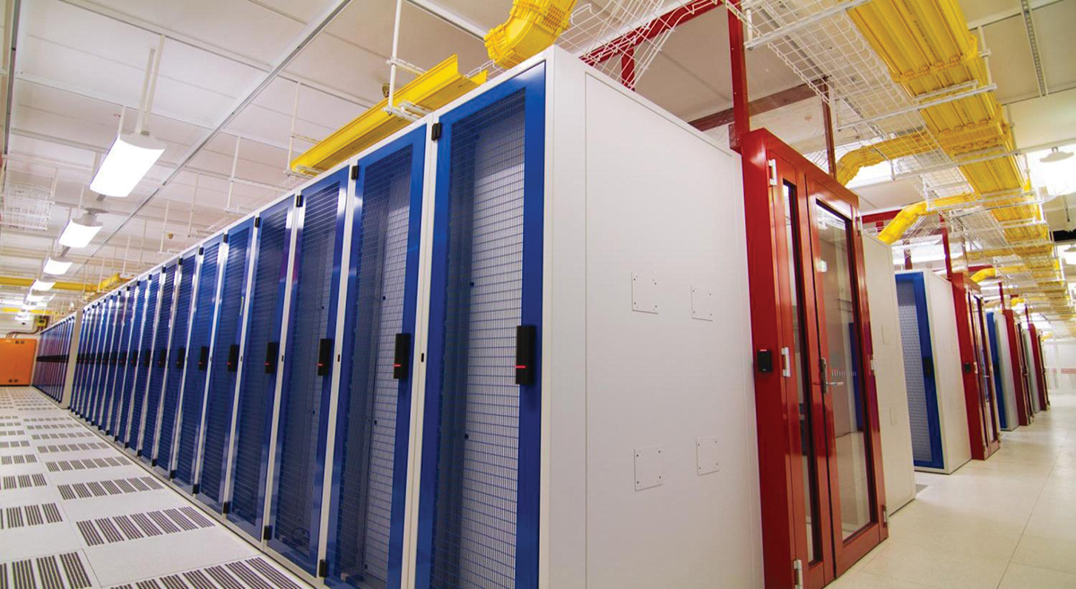 Figure 13. Cold Aisle containment is mandated design for all new NEXTDC facilities to minimize CRAC fan energy