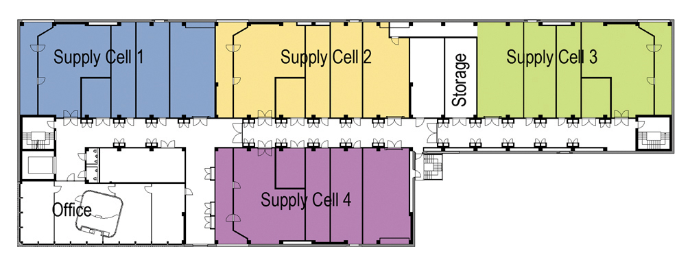 Figure 4. Second floor layout