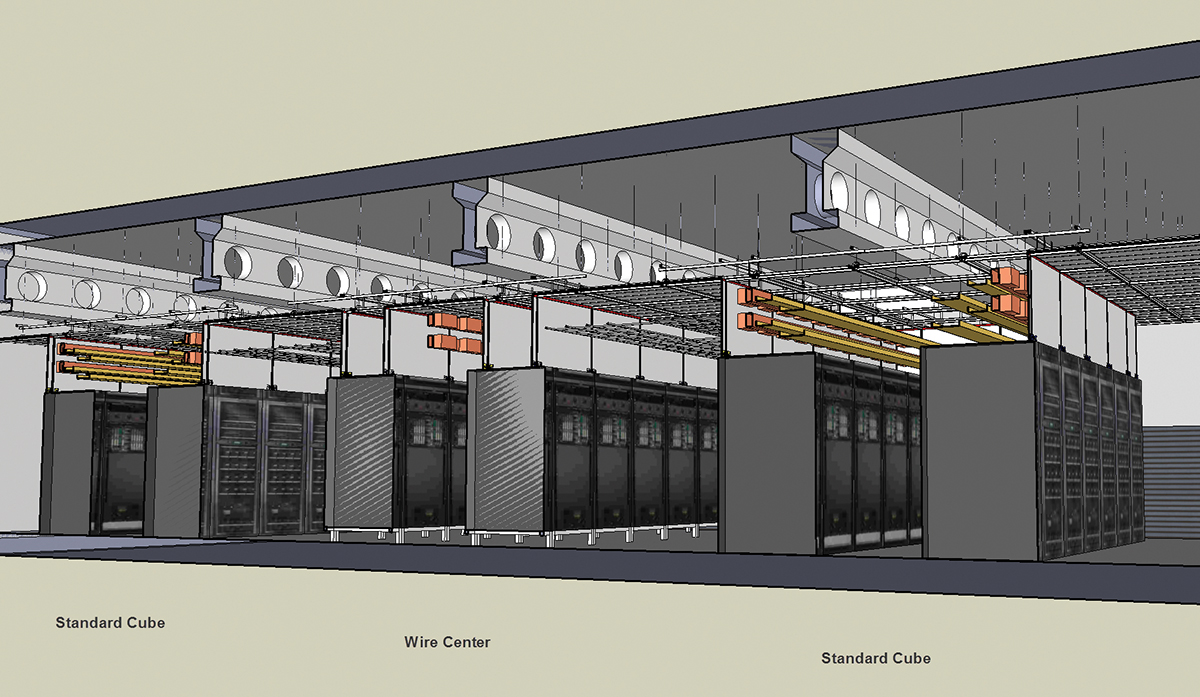 Figure 6. System profile through a server room