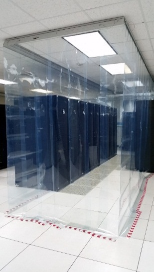 Figure 14. Installed Cold Aisle Containment System